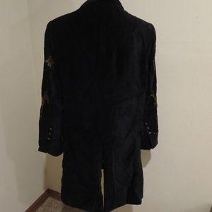 Soft Surroundings Jackets & Coats - Soft Surroundings Antoinette Coat velvet embellish